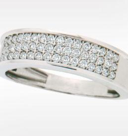 Diamantring i Hvittgull. 0,50ct TwSi